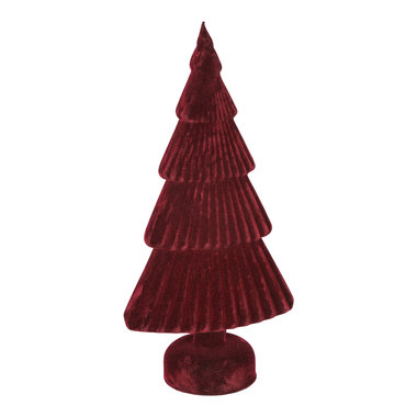 PTMD Christmas velvet green Glass tree statue L red