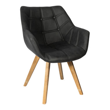 PTMD Cluse grey immi Suede chair arms