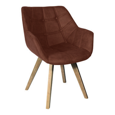 PTMD Cluse brown immi Suede chair arms