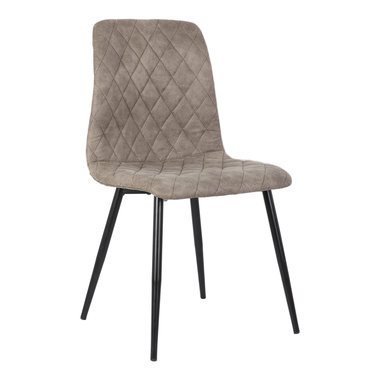 PTMD Dex taupe immi Suede chair no arms