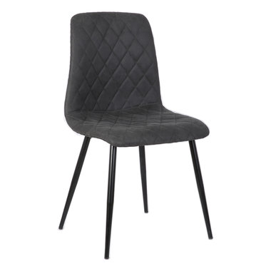 PTMD Dex grey immi Suede chair no arms