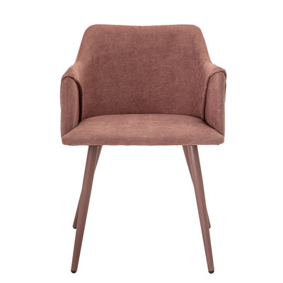 Bloomingville Volo Dining Chair, Rose, Polyester