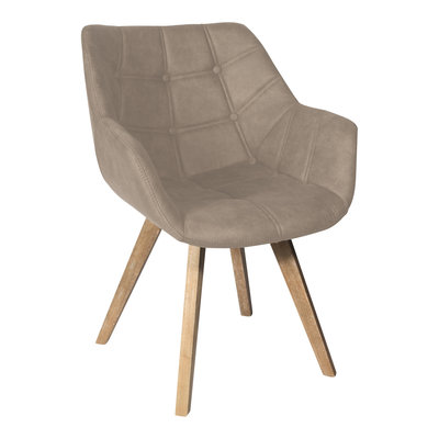 PTMD Cluse cream immi Suede chair arms