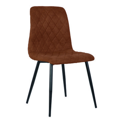 PTMD Dex brown immi Suede chair no arms
