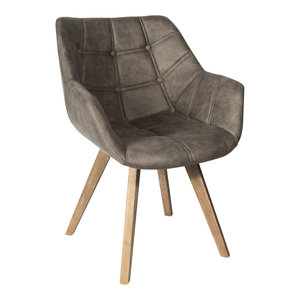 PTMD Cluse taupe immi Suede chair arms